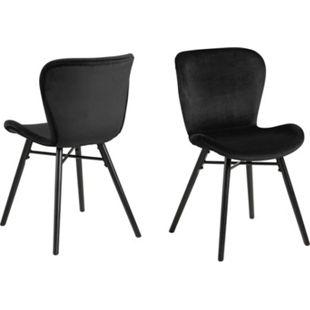 2x Bali Esszimmerstuhl schwarz Stuhl Set Esszimmer Stühle Möbel Küchenstuhl - Bild 1