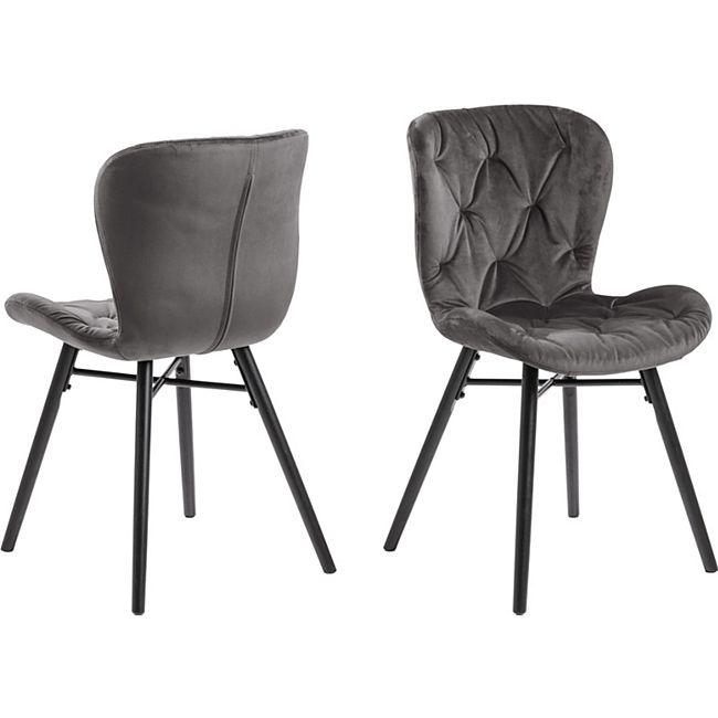 2x Bali Esszimmerstuhl grau Stuhl Set Esszimmer Stühle Möbel Küchenstuhl Küche - Bild 1