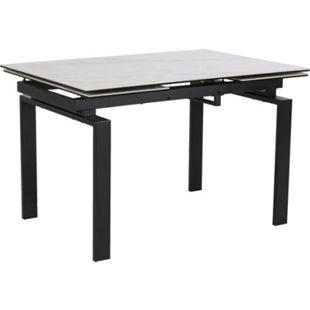 Hummar Esstisch 120/200 + 2 Zusatzplatten weiss Tisch Küchentisch Esszimmertisch - Bild 1