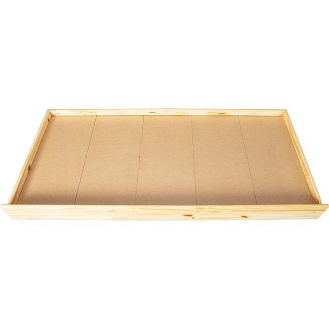 Lacki Bettschublade natur lackiert Schublade für Bett Einzelbett Jungendbett - Bild 1