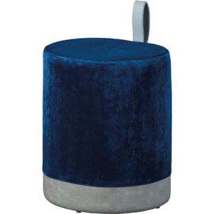 Osana Fusshocker Hocker blau grau Sitzhocker Hocker Fußhocker Polsterhocker - Bild 1