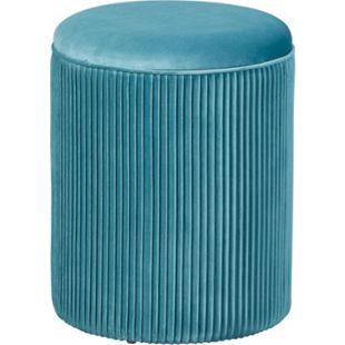 Sola Fusshocker Hocker Aufbewahrung blau Sitzhocker Aufbewahrungsbox Schemel - Bild 1