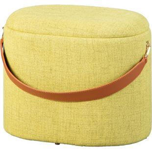 Dirax Fusshocker Hocker mit Aufbewahrung grün braun Sitzhocker Aufbewahrungsbox - Bild 1