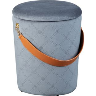 Narus Fusshocker Hocker mit Aufbewahrung dunkelgrau Sitzhocker Aufbewahrungsbox - Bild 1