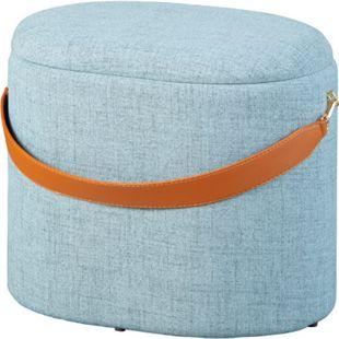 Dirax Fusshocker Hocker mit Aufbewahrung grau braun Sitzhocker Aufbewahrungsbox - Bild 1