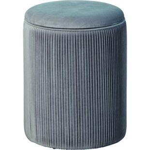 Sola Fusshocker Hocker Aufbewahrung grau Sitzhocker Aufbewahrungsbox Schemel - Bild 1