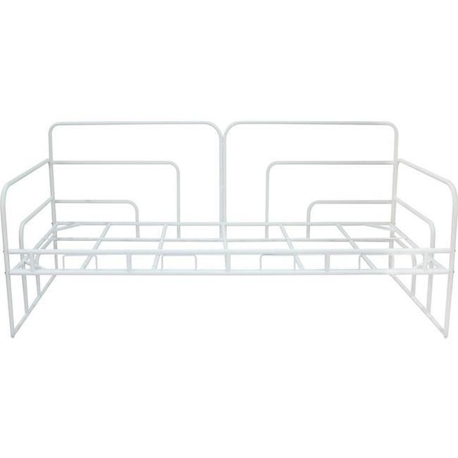Mala Metallbett 90x200 weiss Metall Bett Bettgestell Einzelbett Gästebett - Bild 1