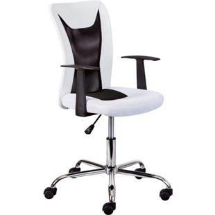 Dons Bürostuhl weiss Computerstuhl Chefsessel Schreibtischstuhl Büro  Sessel - Bild 1