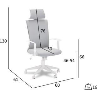 Bock Bürostuhl weiss Computerstuhl Chefsessel Schreibtischstuhl Büro  Sessel - Bild 1