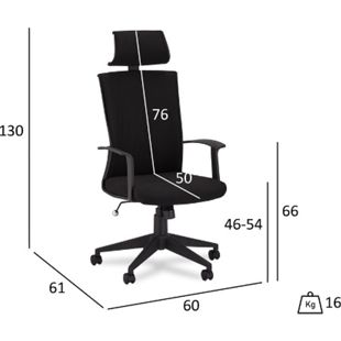Bock Bürostuhl schwarz Computerstuhl Chefsessel Schreibtischstuhl Büro  Sessel - Bild 1