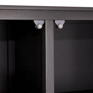 Sea Vitrinenschrank Glastüren Eiche grau Glas Vitrine Schrank Möbel Wohnzimmer - Bild 1