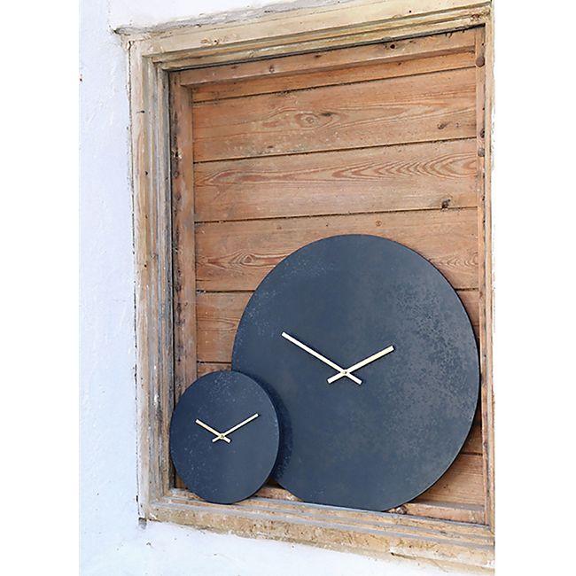 Parma Wanduhr Ø30 cm Steinoptik grau blau Uhr Wand Dekoration Wohnzimmer Büro - Bild 1