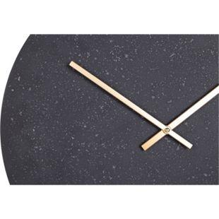 Parma Wanduhr Ø50 cm Steinoptik grau schwarz Uhr Wand Dekoration Wohnzimmer Büro - Bild 1