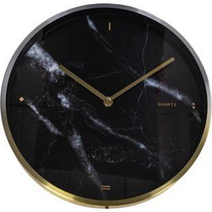Monac Wanduhr Messing und Marmor Uhr Wand Deko Dekoration Wohnzimmer Büro - Bild 1