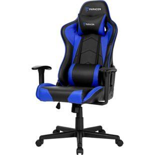 Paracon Brawler Gaming Computerstuhl Bürostuhl Gamer Stuhl Sessel Racing blau - Bild 1