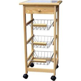Küchenwagen Ablage Körbe Rollwagen Servierwagen Beistellwagen Küche Tisch Regal - Bild 1