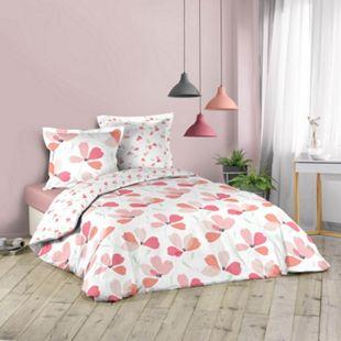3tlg. Landhaus Bettwäsche 240x220 Baumwolle Bettdecke Übergröße Bettgarnitur - Bild 1