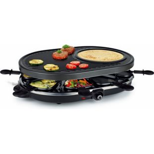 Raclette 8 Pers. Crepemaker Tischgrill Elektrogrill Crepe Grill Partygrill 1200W - Bild 1