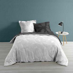 3tlg. Wende Bettwäsche 240x220 Baumwolle Bettdecke Übergröße Bett Bezug Garnitur - Bild 1
