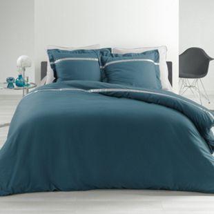 3tlg Perkal Bettwäsche 240x220 Baumwolle Bettdecke Übergröße Bett Bezug Garnitur - Bild 1