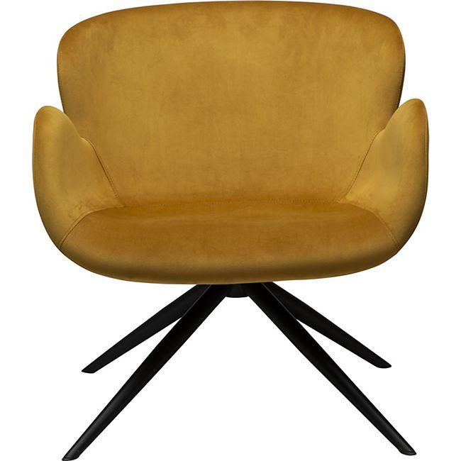 Sessel Danform Velours gelb Esszimmerstuhl Polsterstuhl Stuhl Armlehnenstuhl - Bild 1