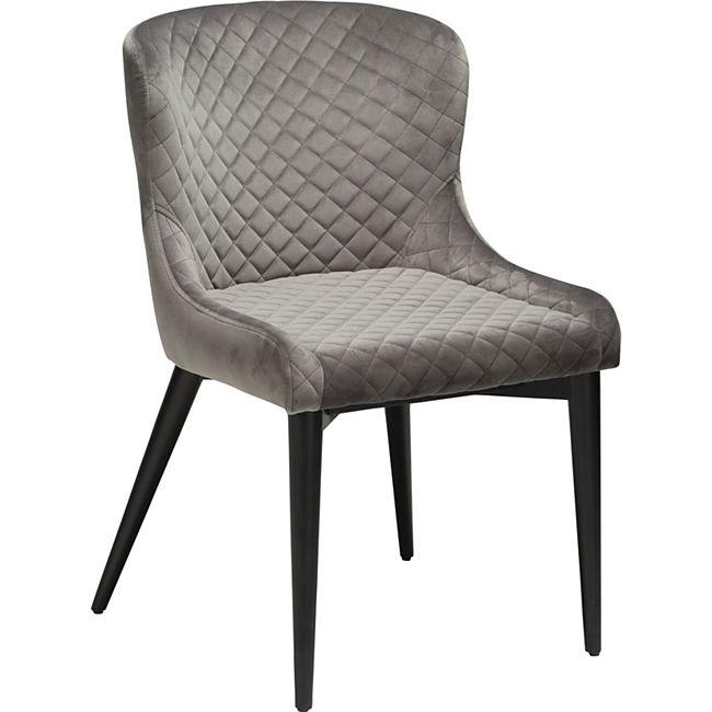 Esszimmerstuhl Danform Vetro Velours grau Polsterstuhl Küchenstuhl Stuhl - Bild 1