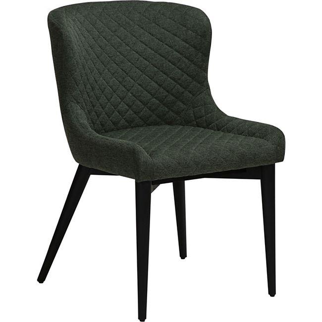 Esszimmerstuhl Danform Vetro Stoff Küchenstuhl Polster Stuhl Stühle grün - Bild 1