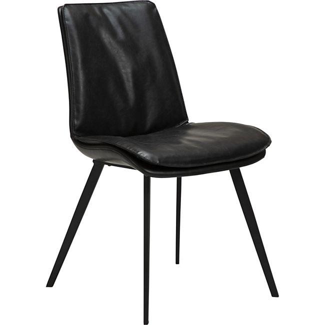 2x Kunstleder Esszimmerstuhl Danform Küchenstuhl Stuhl Set Polsterstuhl  schwarz - Bild 1