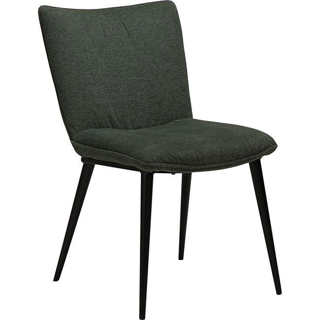 2x Esszimmerstuhl Danform Stoff Küchenstuhl Polster Stuhl Set Stühle grün - Bild 1