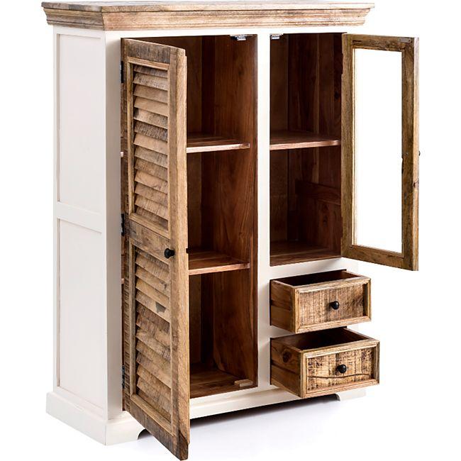 Landhaus Highboard New Orleans Kommode Mango Holz Wohnzimmer Schrank Anrichte Online Kaufen Bei Netto