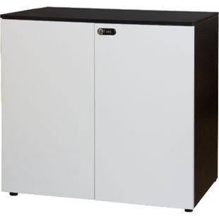 Büroschrank abschließbar Aktenschrank schwarz weiß Büromöbel Kommode Sideboard - Bild 1