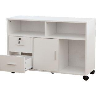 Büroschrank weiß Schubladenschrank Kommode Sideboard Aktenschrank Schrank Regal - Bild 1