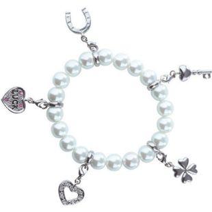Strass Bettelarmband Glücksarmband Perlen Armband Schmuck Magnetarmband Silber - Bild 1