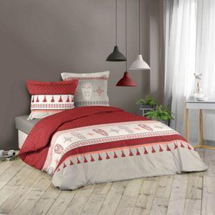 3tlg. Bettwäsche 240x220cm Azteken Mexico Baumwolle Bettdecke Übergröße Bett - Bild 1
