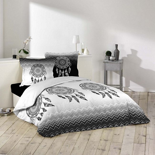 3tlg. Bettwäsche 240x220 Mandala Traumfänger Baumwolle Bettdecke Übergröße Bett - Bild 1