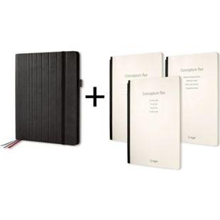 Sigel CF132 Business Organiser ca. A4 Kunstleder schwarz Set Notizheft liniert - Bild 1