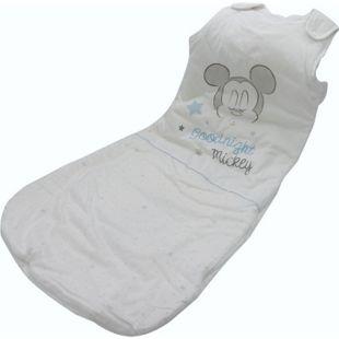 Disney Baby Schlafsack Mickey Mouse 90cm Baumwolle Fußsack Schlafanzug weiß - Bild 1