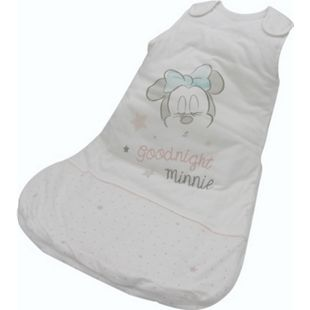 Disney Baby Schlafsack Minnie Mouse 70cm Baumwolle Fußsack Schlafanzug weiß - Bild 1