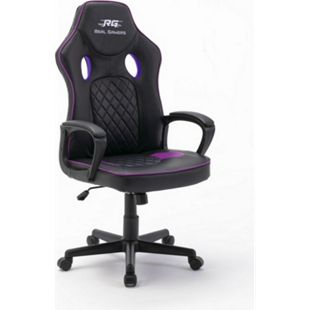 Gaming Computerstuhl Real Gamers Basic schwarz Bürostuhl Drehstuhl Gamer Sessel - Bild 1