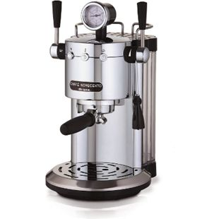 ARIETE Cafè Novecento Espressomaschine silber Milchaufschäumer Espresso Automat - Bild 1