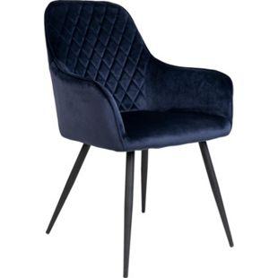 2x Hasse Esszimmerstuhl Velour blau Sitzgruppe Stuhl Esszimmer Wohnzimmer Stühle - Bild 1