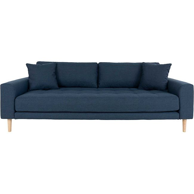 Lido Sofa 3 Pers inkl 2  Kissen blau Couch Garnitur Wohnzimmer Sitzmöbel Möbel - Bild 1