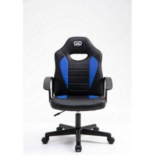 Good Game Gaming Computerstuhl schwarz blau Bürostuhl Drehstuhl Gamer Sessel - Bild 1