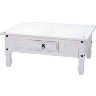 Couchtisch Tisch Beistelltisch Wohnzimmertisch Mexico massiv Kiefer Mexiko weiß - Bild 1