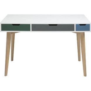 PKline Schreibtisch in weiss Bürotisch Holztisch Tisch Computertisch - Bild 1
