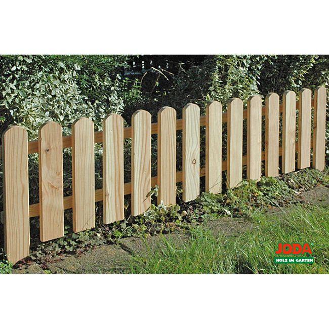8x Steckzaun 120 x 30 cm Gartenzaun Holz Zaun Beetbegrenzung Lattenzaun - Bild 1