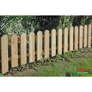 4x Steckzaun 120 x 30 cm Gartenzaun Holz Zaun Beetbegrenzung Lattenzaun - Bild 1