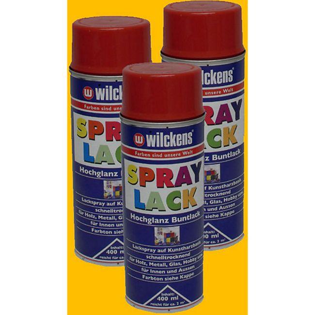 3x Spraydose Spraylack Farben 400ml Alkydharzlack Rapsgelb RAL 1021 100ml/0,83? - Bild 1