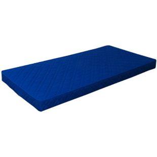 Schaumstoffmatratze Rollmatratze 90 x 200cm Kaltschaum Matratze Komfort blau - Bild 1