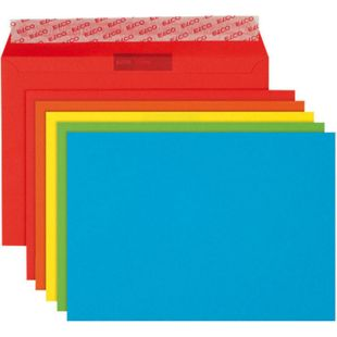 20x ELCO C6 farbige Briefumschläge Versandtaschen Kuvert Briefkuverts 5 Farben - Bild 1